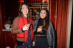 India Clarke & Holly Scarsella at a party to launch the Barr & Bass 'Aya' brand at Mark's Club, 46 Charles Street, Mayfair, London England. 14 December 2016.