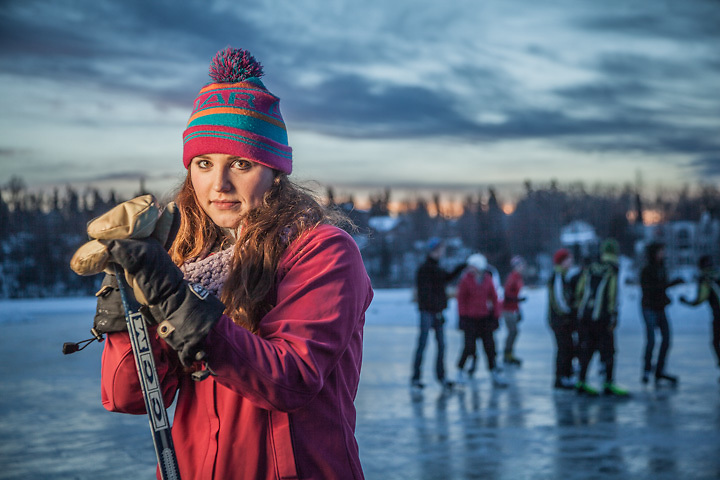 Civil Engineering student Janey Hoefler at Westchester Lagoon, Anchorage  janey.hoefler@gmail.com