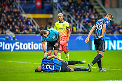 November 6, 2019, Milano, Italy: rafael toloi (atalanta bc)during Tournament round, group C, Atalanta vs Manchester City, Soccer Champions League Men Championship in Milano, Italy, November 06 2019 - LPS/Fabrizio Carabelli (Credit Image: © Fabrizio Carabelli/LPS via ZUMA Wire)