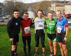 1st 5 home in the Westport Sea2summit adventure race Tom O Dowd,(3rd) Robbie Bryson(2nd), Colm Staunton (1st), Noel Brady (4th) and Paul Mahon (5th)...Pic Conor McKeown