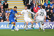AFC Wimbledon striker Andy Barcham (17) dribbling and attacking the Northampton Town box during the EFL Sky Bet League 1 match between AFC Wimbledon and Northampton Town at the Cherry Red Records Stadium, Kingston, England on 11 March 2017. Photo by Matthew Redman.