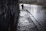 An impatient boy runs beneath Pothouse Bridge on the Sheffield and Tinsley Canal, Coleridge Road