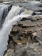 Closeup view of Haruru Falls, near Paihia, Northland, New Zealand.