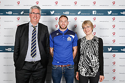 Ryan Edwards of Bristol Rugby poses during the Player Sponsors' Dinner in the Heineken Lounge at Ashton Gate - Mandatory byline: Rogan Thomson/JMP - 08/02/2016 - RUGBY UNION - Ashton Gate Stadium - Bristol, England - Bristol Rugby Player Sponsors' Dinner.