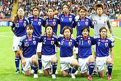 13.07.2011, Commerzbank Arena, Frankfurt, GER, FIFA Women Worldcup 2011, Halbfinale,  Japan (JPN) vs. Schweden (SWE), im Bild.Teamfoto Japan.. // during the FIFA Women´s Worldcup 2011, Semifinal, Japan vs Sweden on 2011/07/13, Commerzbank Arena, Frankfurt, Germany.   EXPA Pictures © 2011, PhotoCredit: EXPA/ nph/  Mueller       ****** out of GER / CRO  / BEL ******