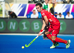 Belgium's Loick Luypaert. Belgium v Germany - Unibet EuroHockey Championships, Lee Valley Hockey & Tennis Centre, London, UK on 22 August 2015. Photo: Simon Parker