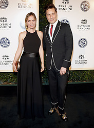 Cameron Silver and Radha Mitchell at the Art of Elysium Celebrating the 10th Anniversary held at the Red Studios in Los Angeles, USA on January 7, 2017.