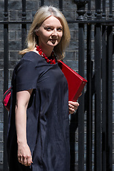 London, UK. 21 May, 2019. Liz Truss MP, Chief Secretary to the Treasury, leaves 10 Downing Street following a Cabinet meeting.