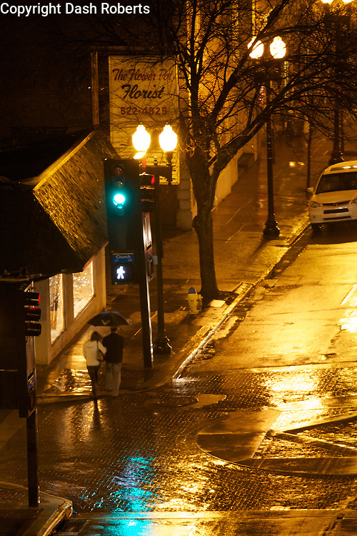 Rainy night in downtown Knoxville, Tn.