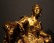Empress of Russia Catherine the Great (contemporary gilded sculpture by Jean-Baptiste Gustave Deloye (1838-1899)
