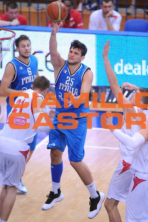 DESCRIZIONE : Trento Trentino Basket Cup Italia Polonia<br /> GIOCATORE : Alessandro Gentile <br /> CATEGORIA : Tiro Penetrazione Super<br /> SQUADRA : Nazionale Italia Maschile<br /> EVENTO :  Trento Trentino Basket Cup<br /> GARA : Italia Polonia<br /> DATA : 09/08/2013<br /> SPORT : Pallacanestro<br /> AUTORE : Agenzia Ciamillo-Castoria/Max.Ceretti<br /> Galleria : FIP Nazionali 2013<br /> Fotonotizia : Trento Trentino Basket Cup Italia Israele<br /> Predefinita :