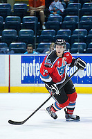 KELOWNA, CANADA - AUGUST 30: Cole Linaker #26 of the Kelowna Rockets skates against the Kamloops Blazers  on August 30, 2014 during pre-season at Prospera Place in Kelowna, British Columbia, Canada.   (Photo by Marissa Baecker/Shoot the Breeze)  *** Local Caption *** Cole Linaker;