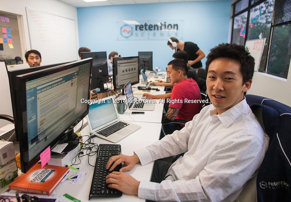 Jerry Jao, founder of Retention Science.<br /> <br /> (Photo by Ringo Chiu/PHOTOFORMULA.com)