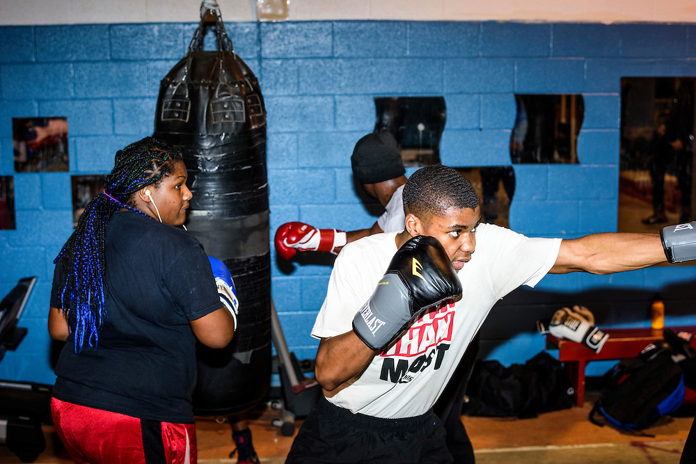 Baltimore, Maryland - January 26, 2017: Boxers train at the Upton Boxing Club in Baltimore.<br /> <br /> <br /> CREDIT: Matt Roth for The New York Times<br /> Assignment ID: