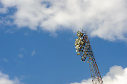A general viewWEC of a floodlight before the match - Photo mandatory by-line: Rogan Thomson/JMP - 07966 386802 - 19/04/2014 - SPORT - FOOTBALL - Fratton Park, Portsmouth - Portsmouth FC v Bristol Rovers - Sky Bet Football League 2.