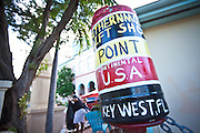 Decoration at t a shop of the Southernmost Point in the continental USA marker on Key West, Florida.