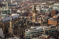 © Licensed to London News Pictures . 07/12/2013 . Manchester Town Hall . Cityscape view of Manchester . Photo credit : Joel Goodman/LNP