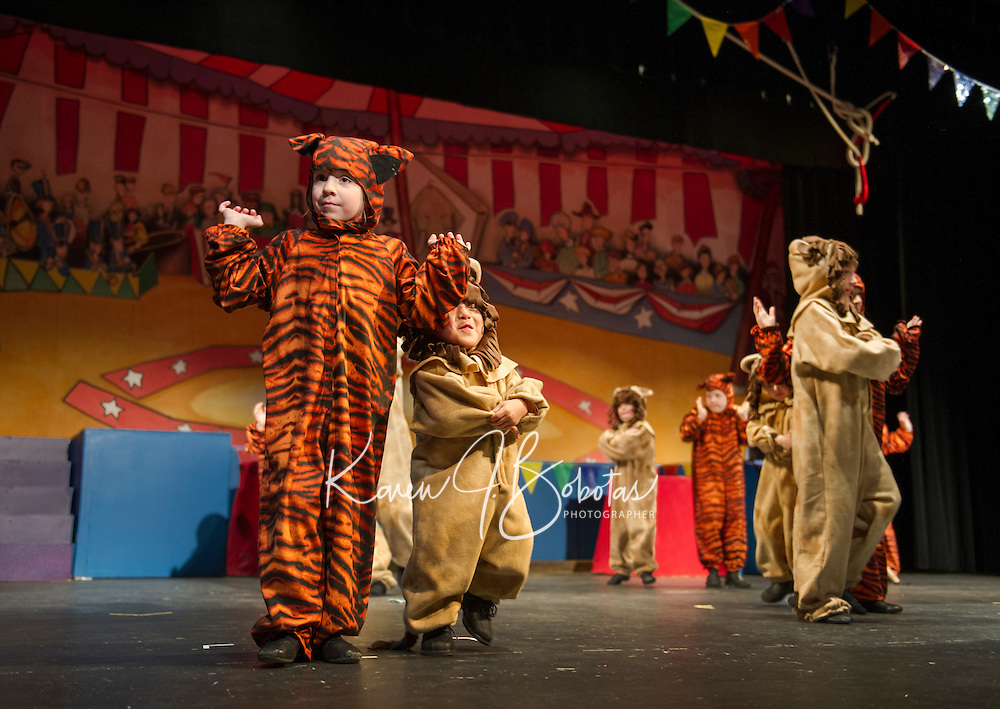 Barnum the circus musical with Streetcar Company at Interlakes High School.  Karen Bobotas for the Laconia Daily Sun