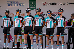 Veenendaal, The Netherlands - Dutch Food Valley Classic (UCI 1.1) - 23th August 2013 - Team Madison Genesis with PETERS, DOWNING, BIBBY, JEFFS, TENNANT and HOLOHAN
