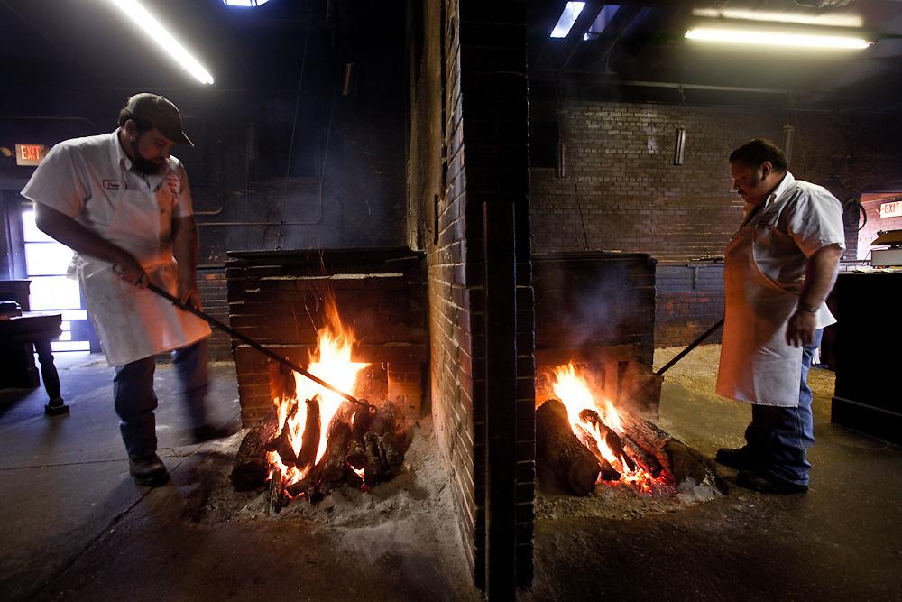 Fire pits, Smitty's Market, Lockhart, Texas. Photograph ©2009 Darren Carroll