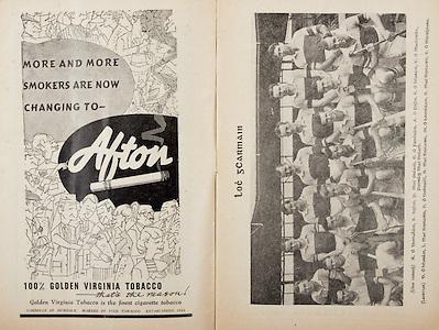 All Ireland Senior Hurling Championship Final,.Programme,.05.09.1954, 09.05.1954, 5th September 1954,.Cork 1-9, Wexford 1-6,.Minor Dublin v Tipperary, .Senior Cork v Wexford,.Croke Park,..Advertisements, Afton Cigarettes,