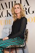 Boekpresentatie van Camilla Lackberg - Gouden Kooi in Mama Kelly, Amsterdam.<br /> <br /> Op de foto:  Daphne Deckers