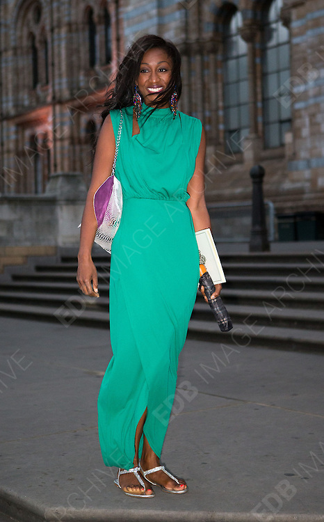 17.AUGUST.2013. LONDON<br /> <br /> BEVERLY KNIGHT ATTENDS TASMIN KHANS WEDDING AT THE NATURAL HISTORY MUSEUM IN LONDON, UK.<br /> <br /> BYLINE: EDBIMAGEARCHIVE.CO.UK<br /> <br /> *THIS IMAGE IS STRICTLY FOR UK NEWSPAPERS AND MAGAZINES ONLY*<br /> *FOR WORLD WIDE SALES AND WEB USE PLEASE CONTACT EDBIMAGEARCHIVE - 0208 954 5968*