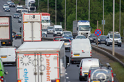 © Licensed to London News Pictures. 13/05/2020. London, UK. Traffic on the A40 near Uxbridge. Heavy traffic as people commute to work on the A40 as lockdown restrictions are eased in England. Photo credit: Peter Manning/LNP