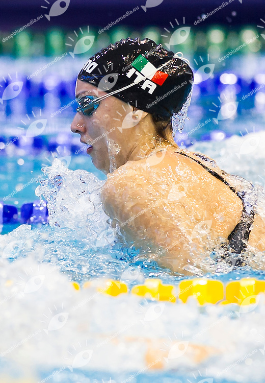 SCARCELLA Ilaria ITA<br /> Women 's 50m breaststroke heats<br /> Netanya, Israel, Wingate Institute<br /> LEN European Short Course Swimming Championships  Dec. 2 - 6, 2015 Day01 Dec. 2nd<br /> Nuoto Campionati Europei di nuoto in vasca corta<br /> Photo Giorgio Perottino/Deepbluemedia/Insidefoto