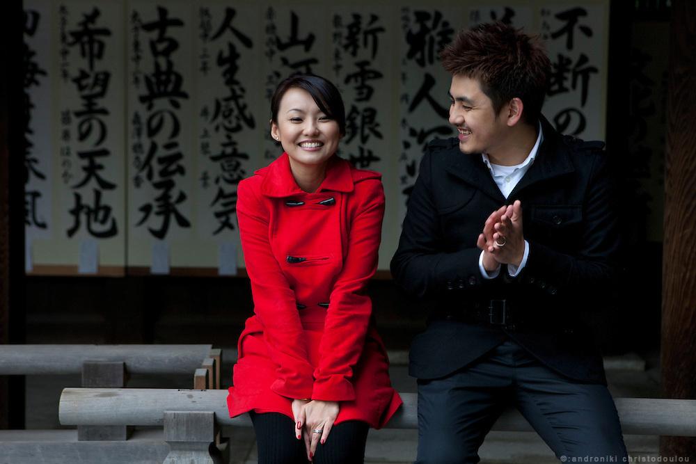 Ben and Winnie at Meijijingou shrine