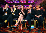 © Licensed to London News Pictures. 10/03/2013. Brighton, UK. Jo Swinson and Vince Cable listen to Nick Clegg, Liberal Democrat Leader and Deputy Prime Minister as he delivers his keynote speech to the Liberal Democrat Spring Conference in Brighton today 10th March 2013. Photo credit : Stephen Simpson/LNP