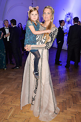 LADY JUBIE WIGAN and daughter ALIENA WIGAN at the Sugarplum Dinner in aid Sugarplum Children a charity supporting children with type 1 diabetes and raising funds for JDRF, the world's leading type 1 diabetes research charity held at One Marylebone, London on 18th November 2015.