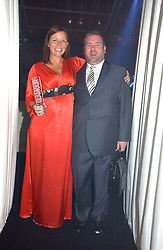 DAVINA McCALL and CHRIS MOYLES at the 2006 Glamour Women of the Year Awards 2006 held in Berkeley Square Gardens, London W1 on 6th June 2006.<br />