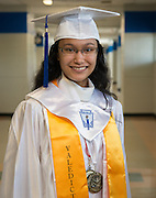 Westbury High School 2016 Valedictorian Kezia Silke Flores poses for a photograph, May 23, 2016.