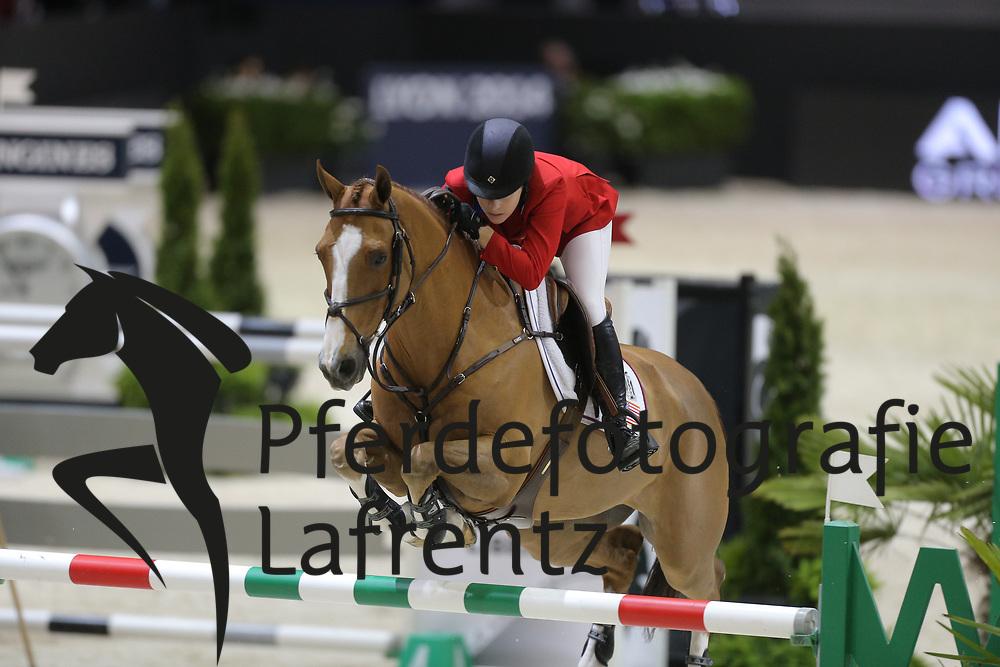 Dinan, Katherine A., Nougat du Vallet<br /> Lyon - Weltcup Finale<br /> Finale II<br /> © www.sportfotos-lafrentz.de/Stefan Lafrentz