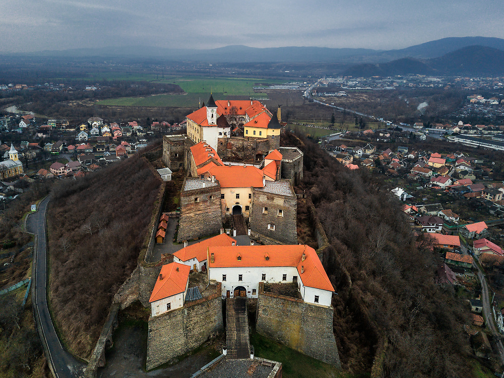 Palanok Castle in Mukachevo, Ukraine
