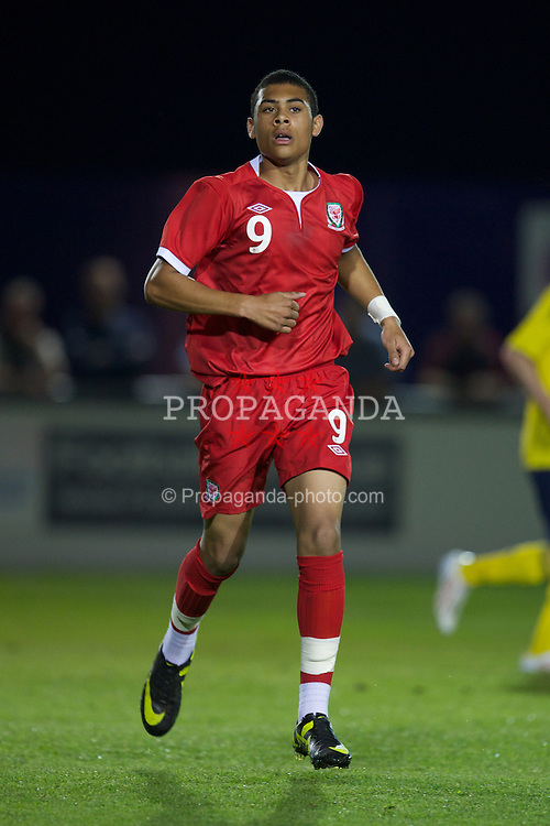 BROUGHTON, WALES - Friday, September 30, 2011: Wales' Alex Penny in action against Scotland during the Victory Shield match at the Airfield. (Pic by David Rawcliffe/Propaganda)