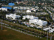Aerial of commercial building in Weston