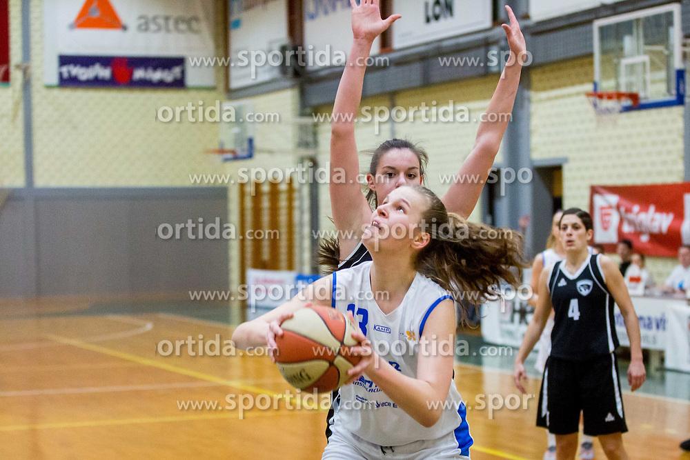 Lara Kozina Bubnic of ZKK Triglav Kranj during basketball match between ZKK Triglav Kranj and ZKD Maribor in Round #1 of 1. Slovenian Woman basketball league, on February 20, 2018 in ŠD Planina, Kranj, Slovenia. Photo by Ziga Zupan / Sportida