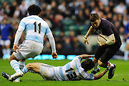 London - Saturday, November 14th 2009: Matt Banahan of England is tackled by Gonzalo Tiesi of Argentina during the Investec Challenge Series Game at Twickenham, London. ..(Pic by Alex Broadway/Focus Images)