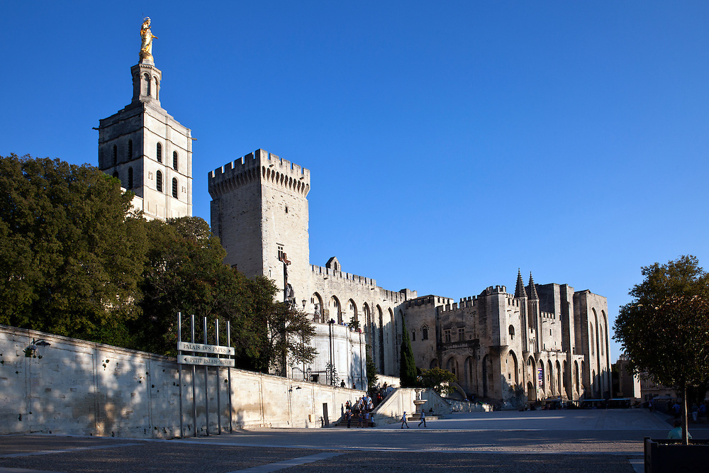 A UNESCO World Heritage site, The Palais des Papes (Papal palace in English) is a historical palace in Avignon, southern France, one of the largest and most important medieval Gothic buildings in Europe. One time fortress and palace, the papal residence was the seat of Western Christianity during the 14th century.