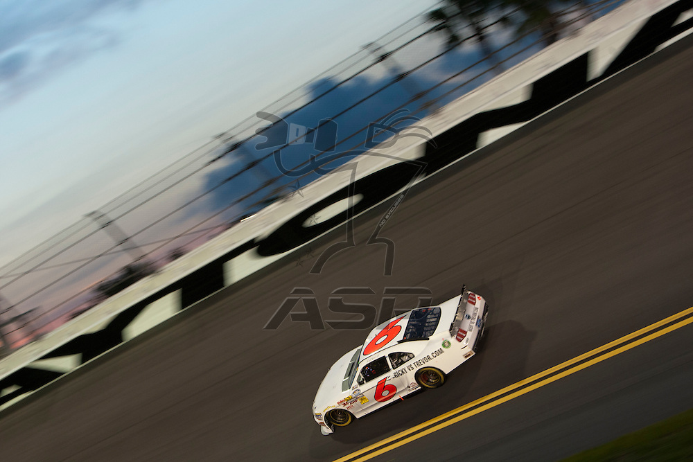 Daytona Beach, FL - July 01, 2011: Ricky Stenhouse, Jr. (6) races off turn four during the Subway Jalapeno 250 at Daytona International Speedway in Daytona Beach, FL.