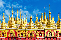 architecture details of the Thanboddhay Phaya near Monywa Myanmar (Burma)