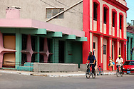 Colorful buildings in Cardenas, Matanzas, Cuba.