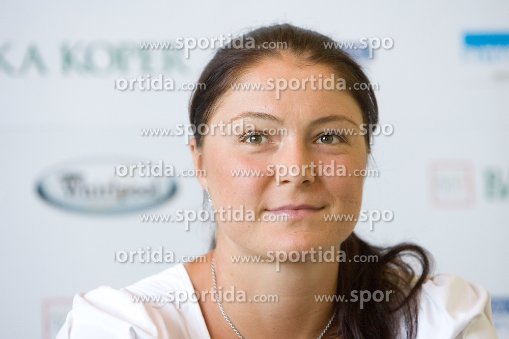 Numer one world women player Dinara Safina of Russia at press conference before Banka Koper Slovenia Open 2009 of Sony Ericsson WTA tour in Portoroz,  on July 16, 2009, in Ljubljana, Slovenia. (Photo by Vid Ponikvar / Sportida)