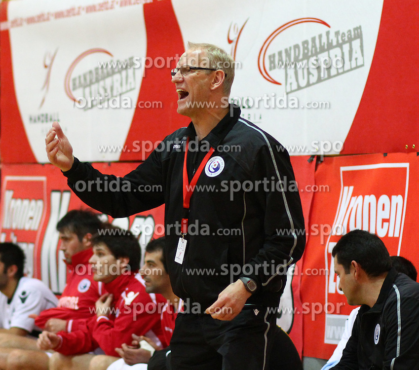 05.01.2011, Kremser Sporthalle, Krems, AUT, IHF Testspiel, Oesterreich vs Portugal, im Bild Mats Olson, (Team Portugal, Headcoach) , EXPA Pictures © 2011, PhotoCredit: EXPA/ T. Haumer