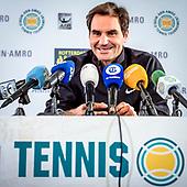 persconferentie Roger Federer