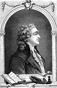 Marie-Jean-Antoine-Nicolas de Caritat, Marquis de Condorcet (1743-1798) French Enlightenment philosopher and sociologist. Educational reform: Nature of Progress. Wood engraving, Paris, 1874