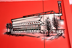 Artwork depicting the City Ground stadium at the ground