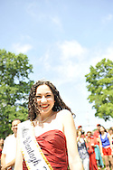 Miss Wantagh 2011, Kara Arena, at 2012 Miss Wantagh Pageant ceremony, a long-time Independence Day tradition on Long Island, held Wednesday, July 4, 2012, in front of Wantagh School, New York, USA. Hailey Orgass, Miss Wantagh 2012, was crowned by Miss Arena, who sang two patriotic songs. 1st RunnerUp was Alyssa Kelly, 2nd RunnerUp was Paulina Renda, and 3rd RunnerUp was Alyson Hopkins. Since 1956, the Miss Wantagh Pageant, which is not a beauty pageant, has crowned a high school student based mainly on academic excellence and community service. Kelley Garland (2010) and Eden Held (2009) were among earlier Miss Wantaghs attending.
